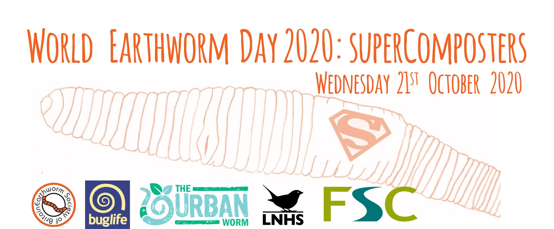 World Earthworm Day 2020 #SuperComposters banner