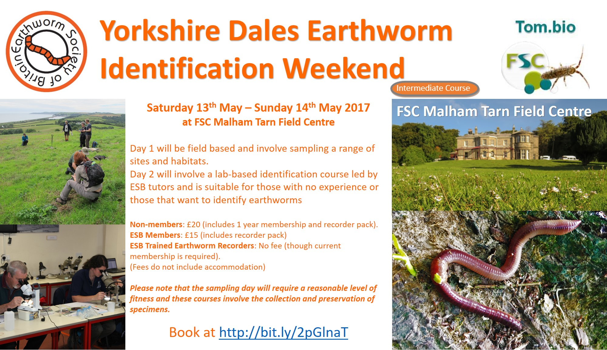 Yorkshire Dales Earthworm ID Weekend 2017